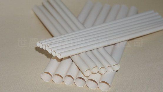 採用竹粉製成多種規格的吸管產品。 世農公司/提供