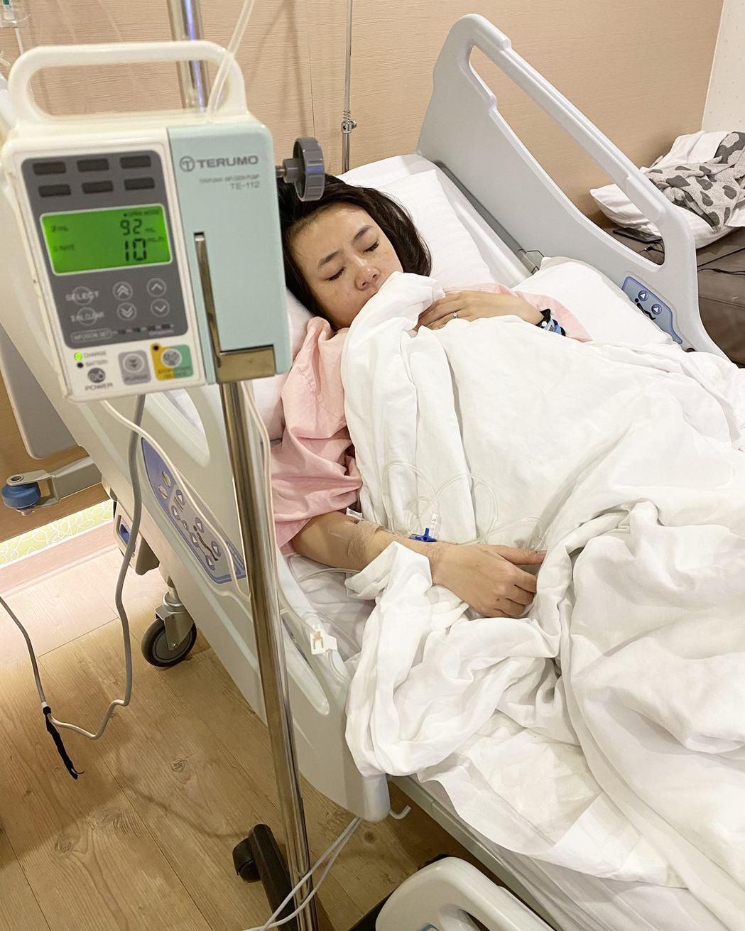 二伯目前在醫院安胎休養中。 圖/擷自二伯臉書