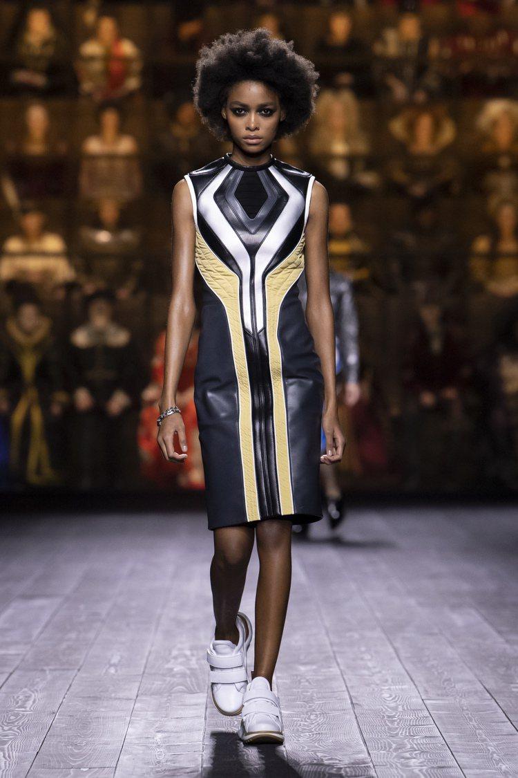 剪裁洗鍊的裙裝,俐落而有型。圖/LV提供