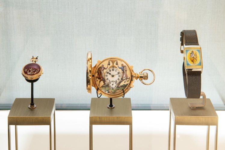 現場並陳列不少由瑞士積家鐘表博物館空運來台的珍貴藏品,見證過往的歷史時光。圖 /...