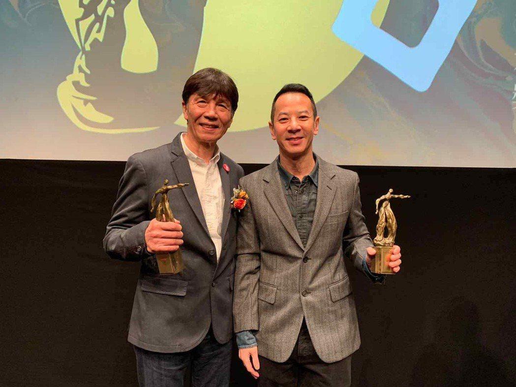太保和導演楊曜愷為「叔‧叔」無懼疫情奔香港領獎。圖/采昌提供