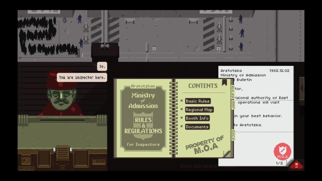同為找錯放行遊戲始祖的《Papers, please》。