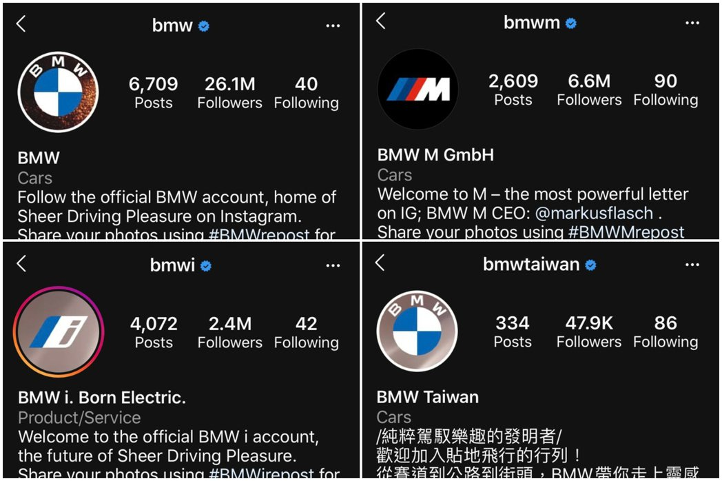 圖/截自BMW各Instagram