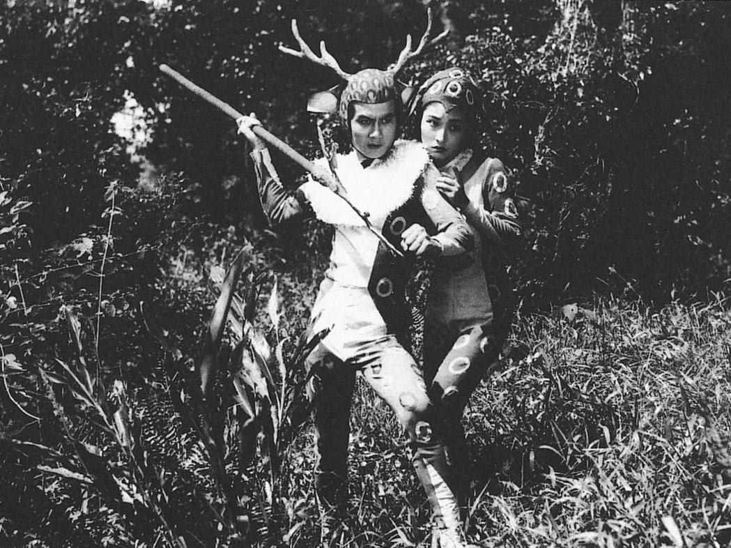 張英導演,白虹與龍松主演之台語童話電影《大俠梅花鹿》(1961)