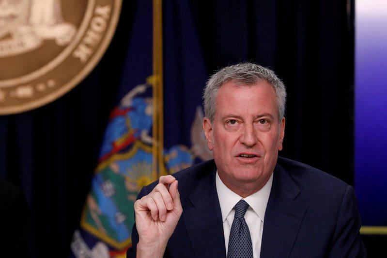 紐約市長白思豪。路透