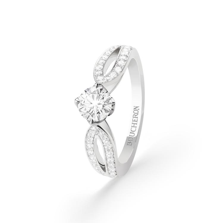 Boucheron,Pont de Paris系列單鑽戒指,鑲嵌1顆鑽石約1.0...