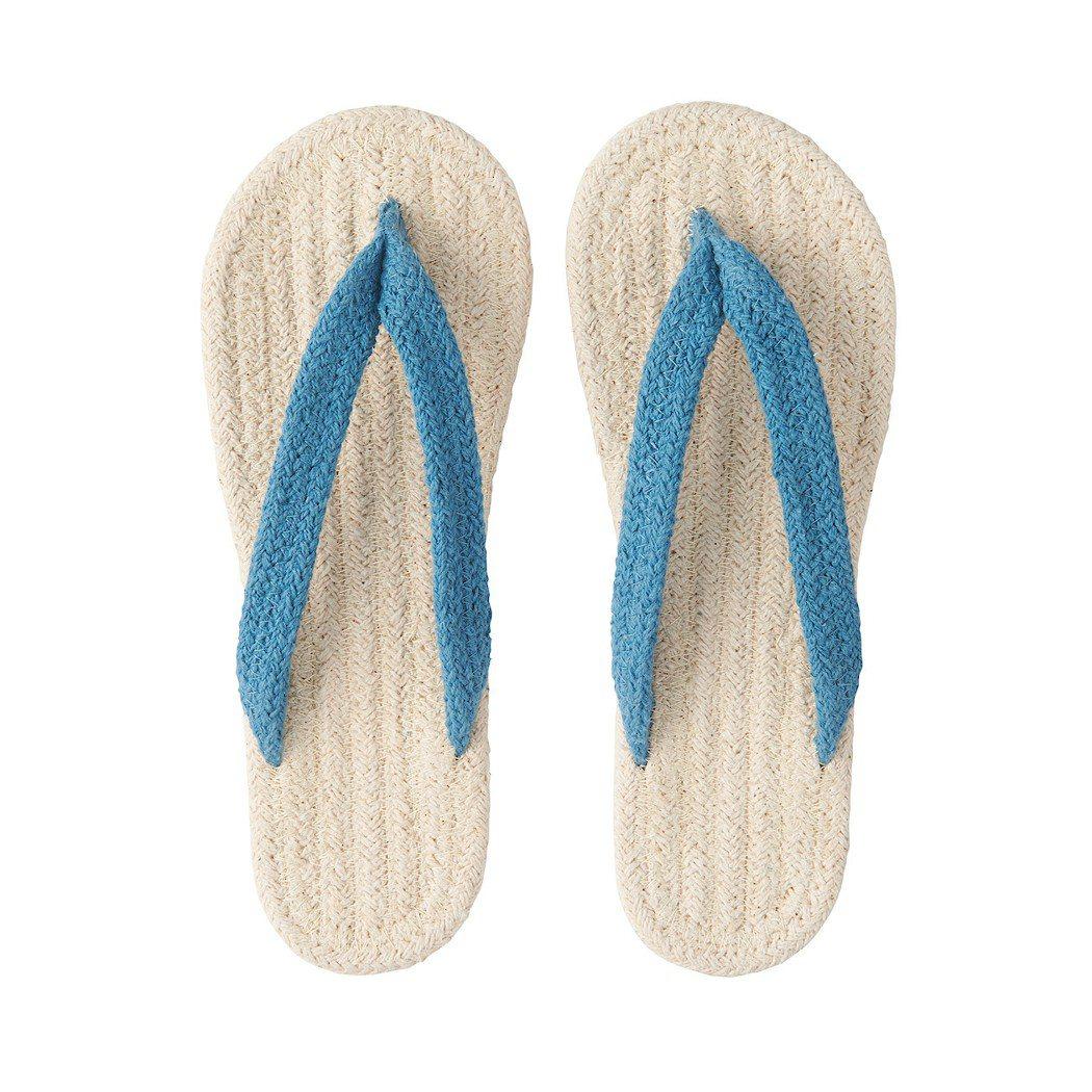 印度棉混室內夾腳拖鞋,售價從190元調降為169元。圖/無印良品提供