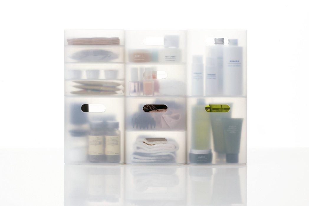 指定款PP化妝盒系列,降幅約10%。圖/無印良品提供