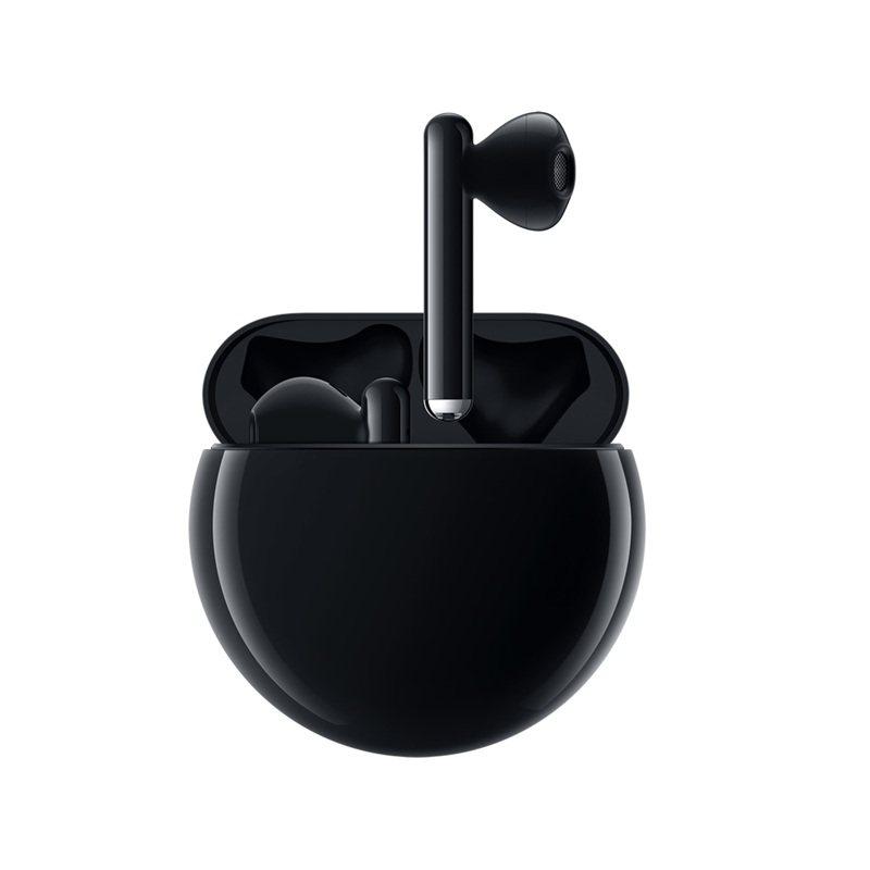 HUAWEI FreeBuds 3真無線藍牙降噪耳機-碳晶黑,售價4,990元,3月20日至3月31日於指定通路購買可享折價500元優惠。圖/華為提供