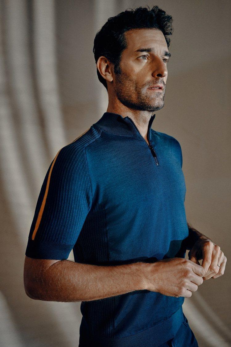 使用了羊毛與尼龍的針織衫兼具輕量與保暖性,簡約洗鍊。圖 / BOSS提供。
