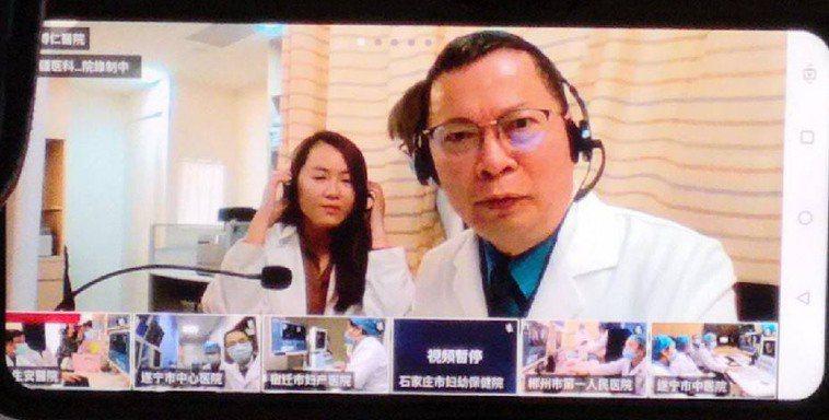 新冠肺炎疫情當前,鄭丞傑透過視訊連線,與全球40家醫院同步進行海扶刀手術。 圖/...
