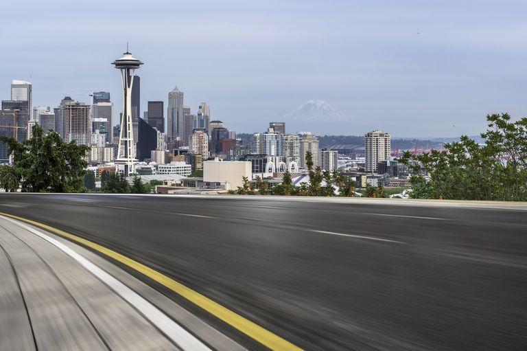 美國西雅圖的交通因在家上班變得更順暢。 摘自caranddriver.com
