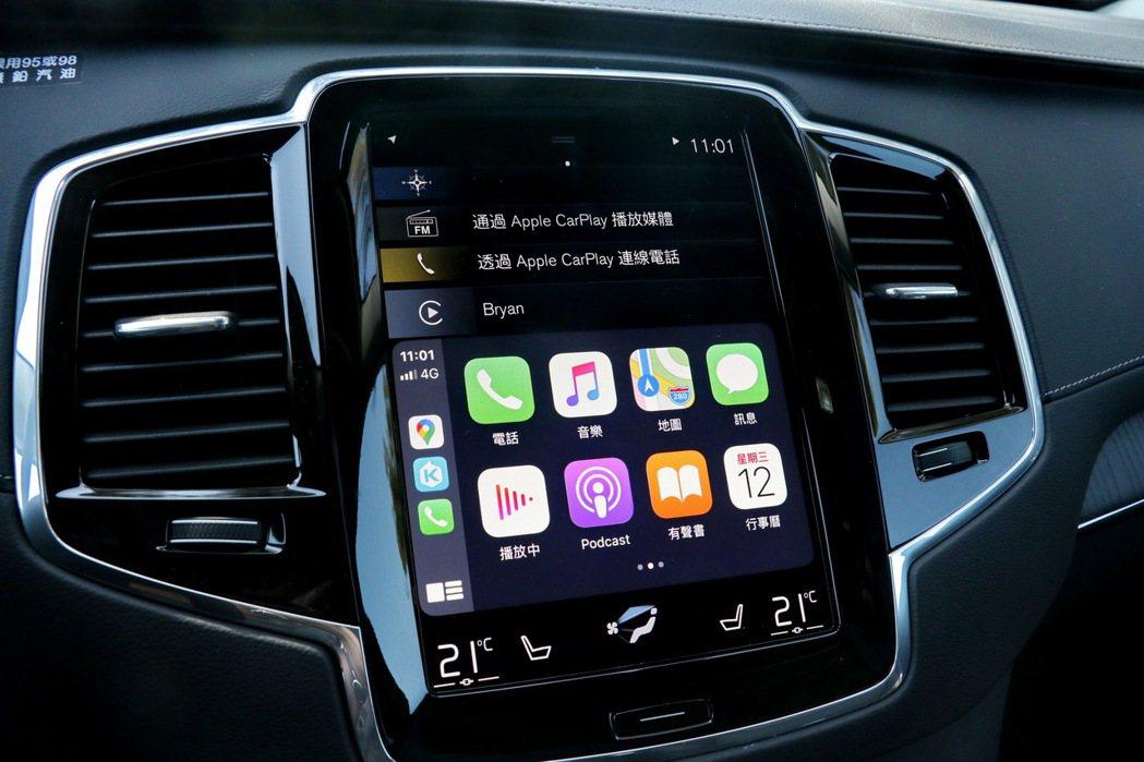 支援Apple CarPlay連線功能。 記者陳威任/攝影