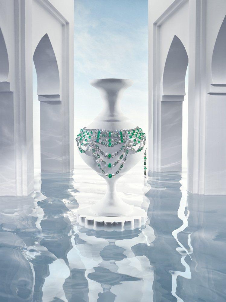 寶格麗BVLGARI JANNAH系列頂級珠寶是由寶格麗與阿拉伯公主共同設計。圖...