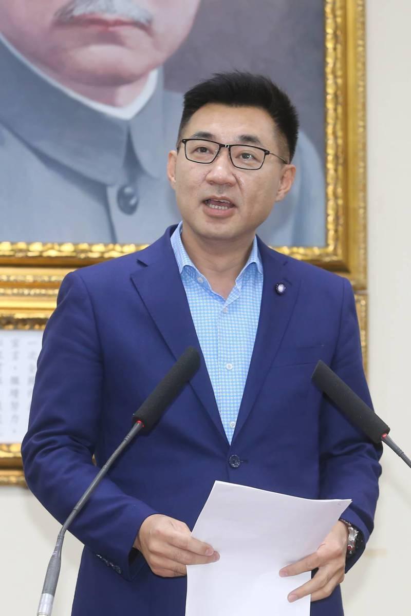 國民黨新任黨主席江啟臣。記者季相儒/攝影