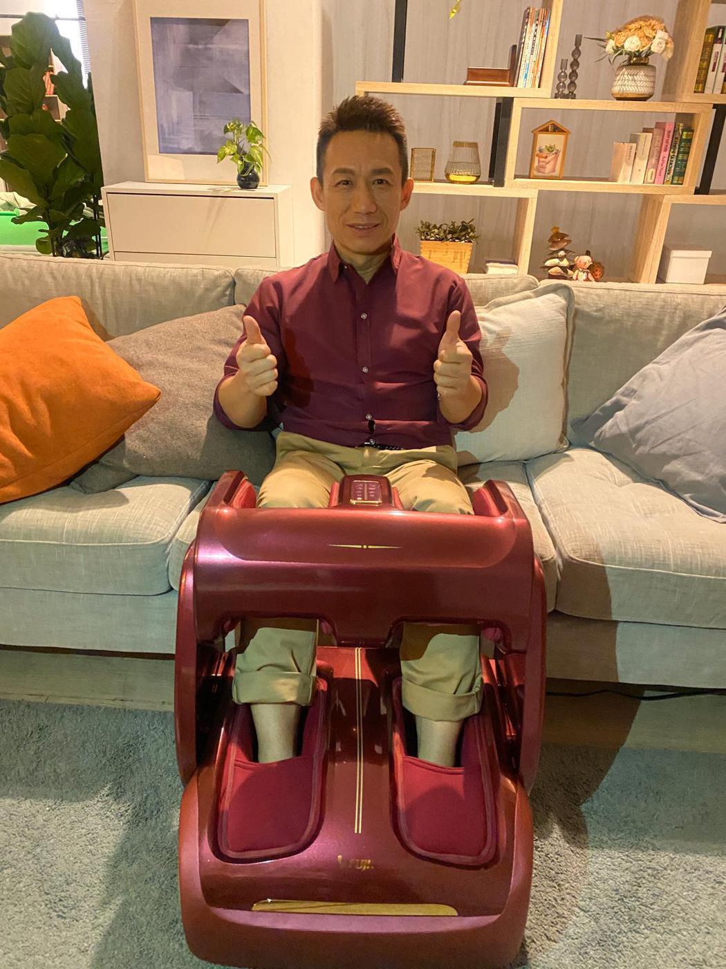 郭子乾新接下按摩椅代言。圖/經紀人提供
