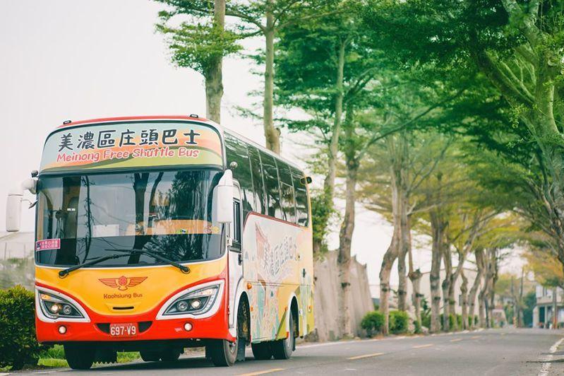 3月份新上路的美濃庄頭巴士,復古造型引發鄉親討論。圖/取自高雄客運公司臉書