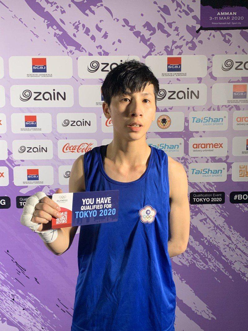 我國拳擊女將林郁婷取得東奥參賽權。 圖/教練曾自強提供