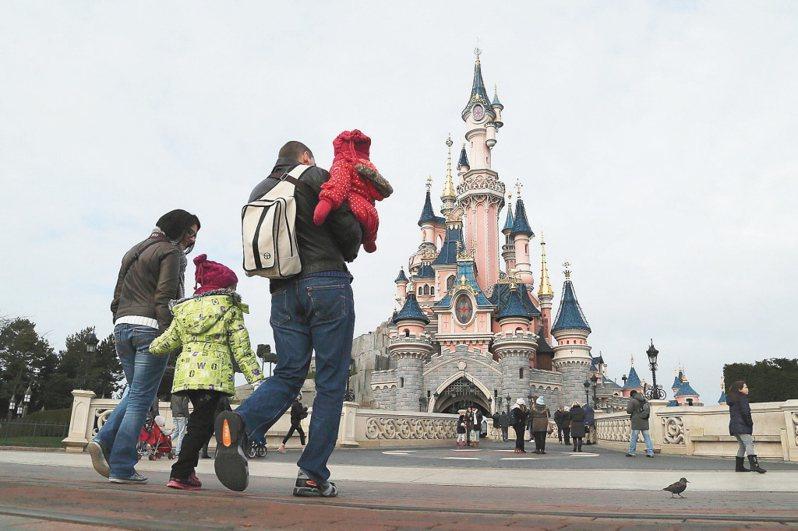 法國巴黎迪士尼樂園。 路透資料照片