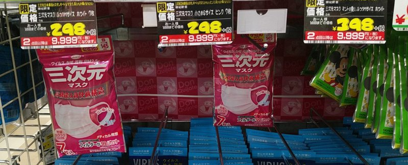 日本網友發現藥妝店賣口罩的限量新招,第2件的價錢竟比第1件貴33倍。 圖擷自推特@koba_rin_0801