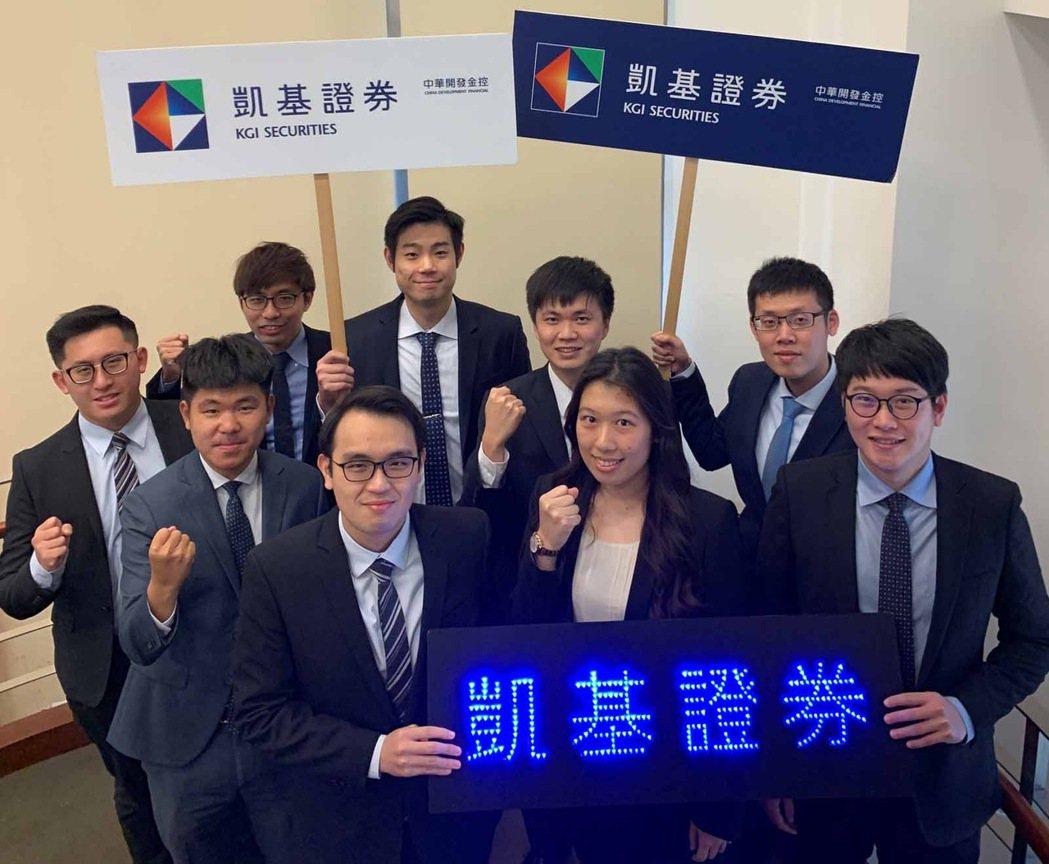 凱基證券優秀MA熱情邀約學弟妹加入MA菁英發展計畫。 凱基證券/提供