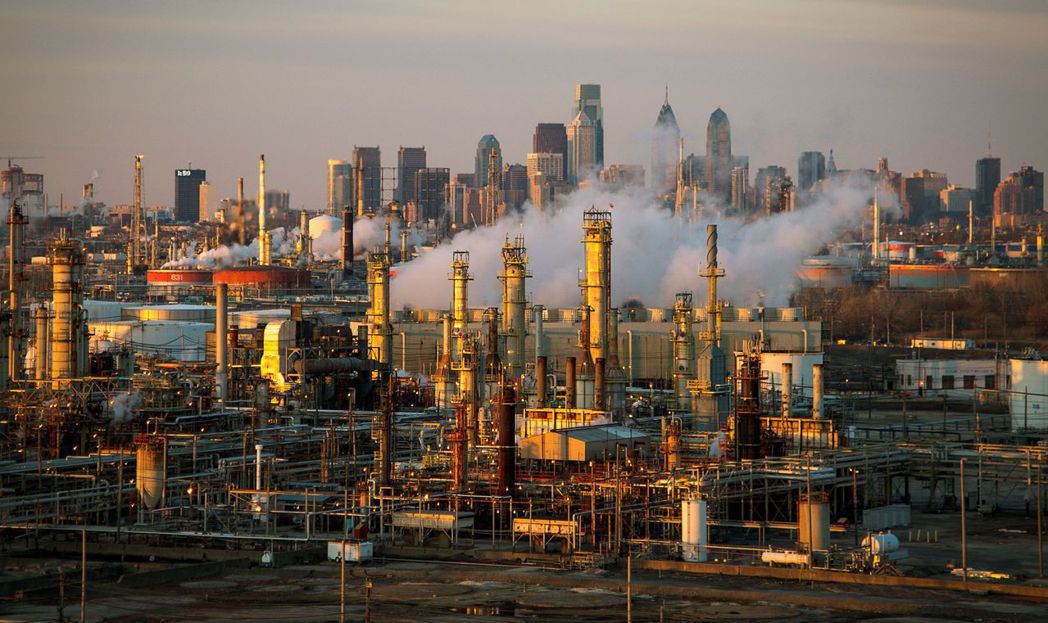 圖為美國費城煉油廠。 圖/美聯社