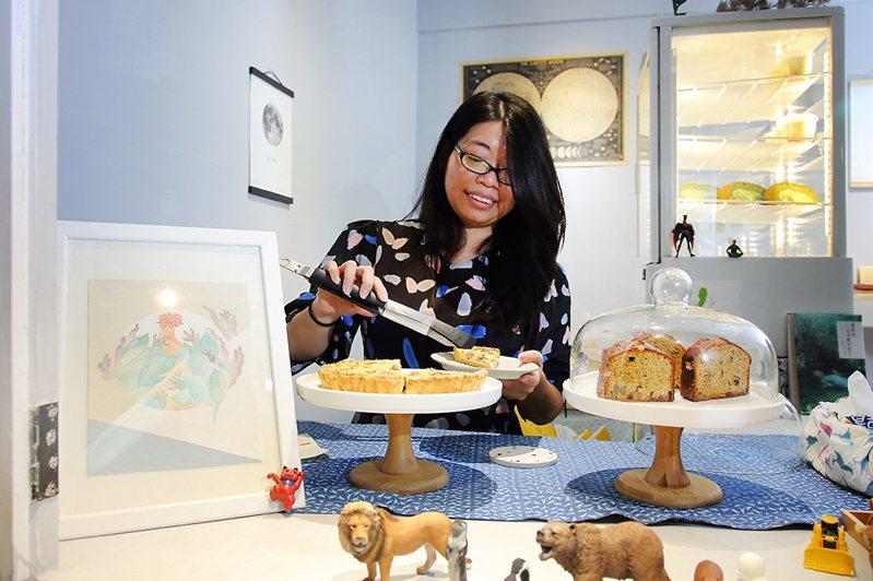 原本從事廣告企劃的Annie,平時喜歡烘焙而開始創作甜點。 (攝影/Cater)