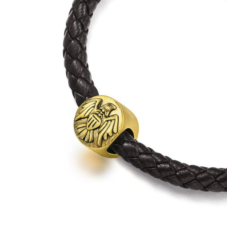 點睛品Charme「酷黑系列」足金正義串飾,10,300元。圖/點睛品提供