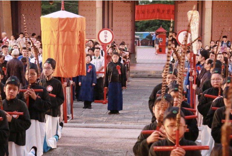 台南孔廟春祭祭孔大典因疫情而決定取消。圖/本報資料照片