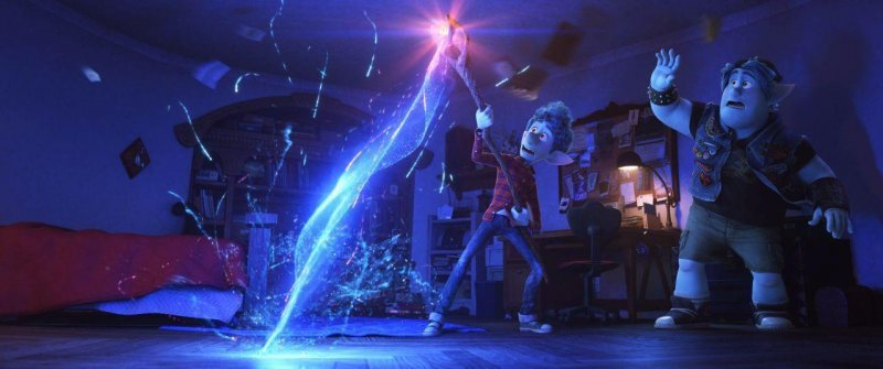皮克斯最新動畫「1/2的魔法」在北美上映以來票房相當亮眼。圖/迪士尼提供