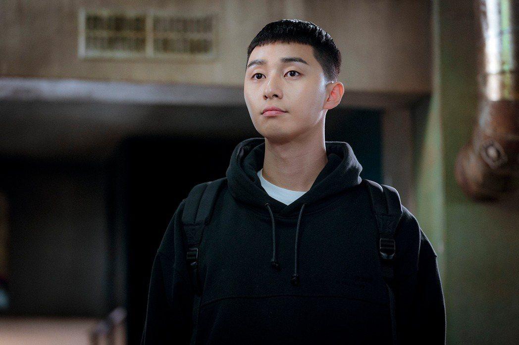 朴敘俊在「梨泰院Class」中的栗子頭造型受到討論。圖/Netflix提供