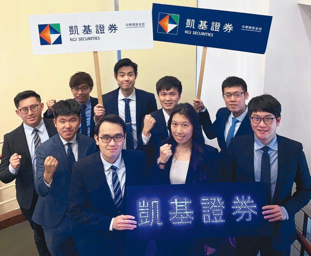 凱基證券優秀MA熱情邀約學弟妹們加入MA菁英發展計畫。 凱基證券/提供