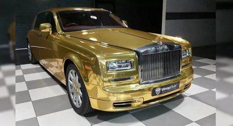 想一圓土豪夢 來搭鍍金的勞斯萊斯計程車