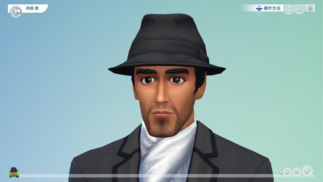 玩家用《模擬市民4》重現阿部寬。(來源:推特)