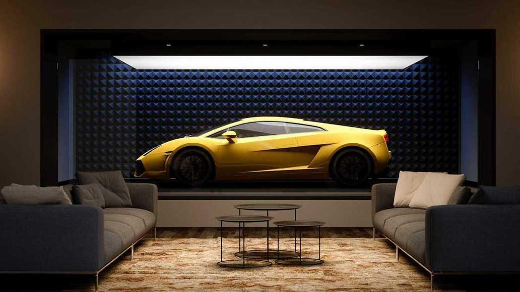 將車庫與現有房間合併,並將一面牆壁變成超跑膠囊。 摘自ASZarchitetti