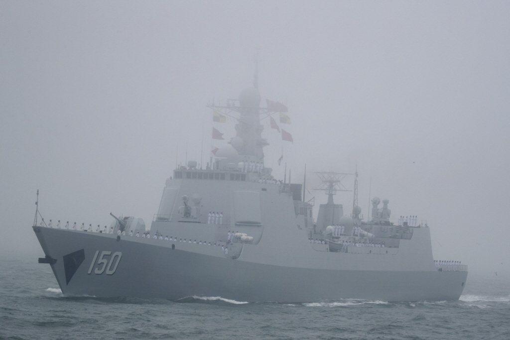 解放軍052C型驅逐艦。  圖/美聯社