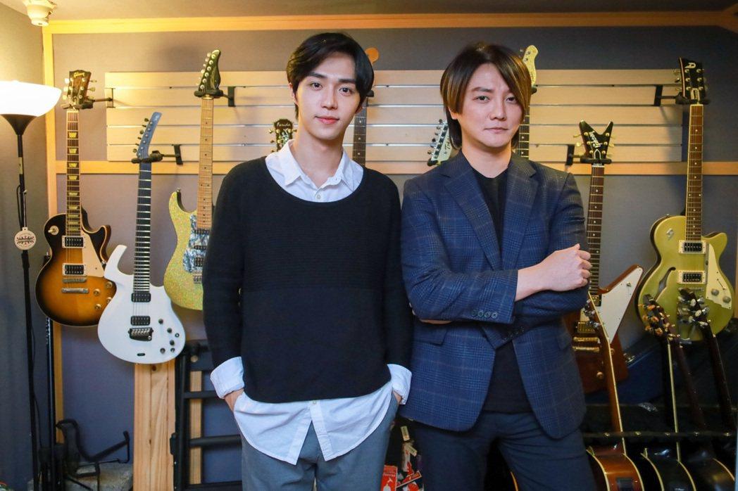 石承鎬(左)很開心能和阿沁合作。圖/愛貝克思提供