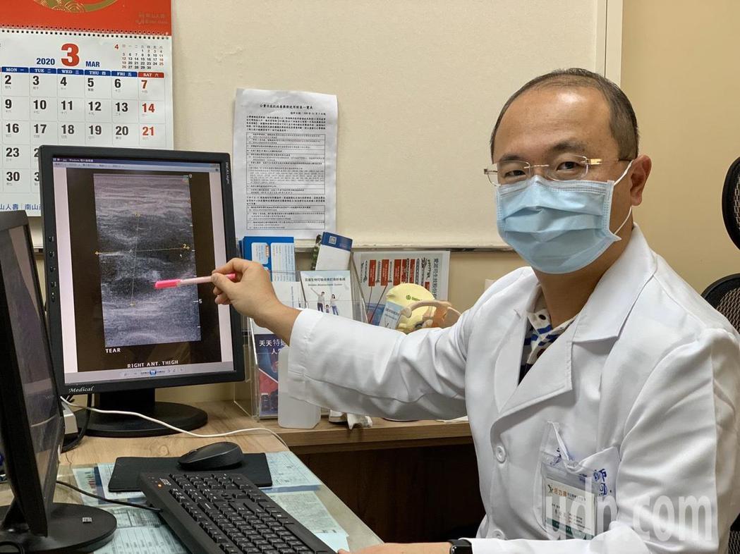 李佳霖醫師表示,這名糖尿病患未控制好血糖,雖然無外傷,卻讓細菌有長趨直入體內的機...