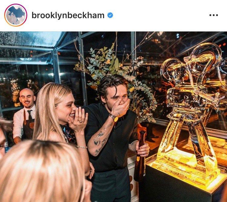 布魯克林在生日趴上配戴百達翡麗玫瑰金金鷹腕表。圖/取自IG @brooklynb...