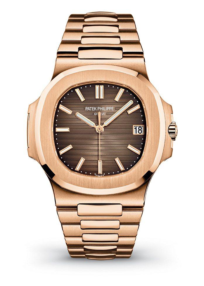 百達翡麗編號5711/1R玫瑰金腕表,162萬1,000元。圖/百達翡麗提供