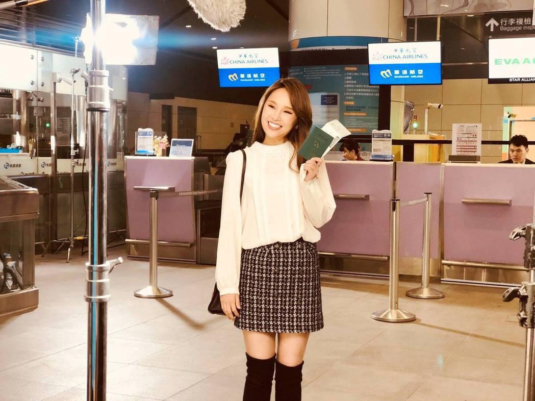 張齡予為推廣機場服務拍攝廣告。圖/三立提供