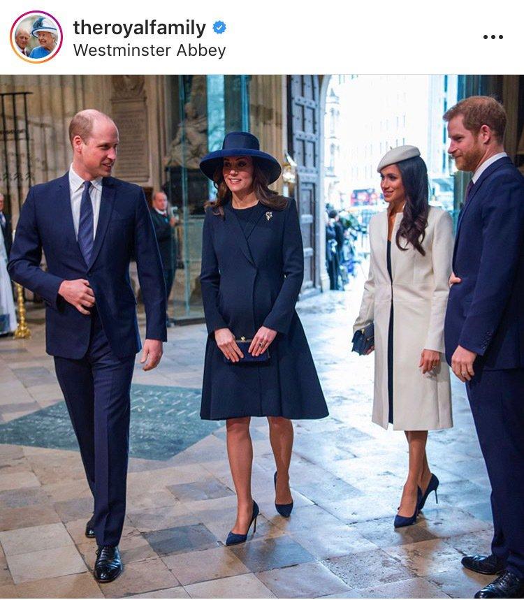 2018年梅根首度以未婚妻的身份與女王一起出席當年的大英國協聯邦節慶典。圖/取自...