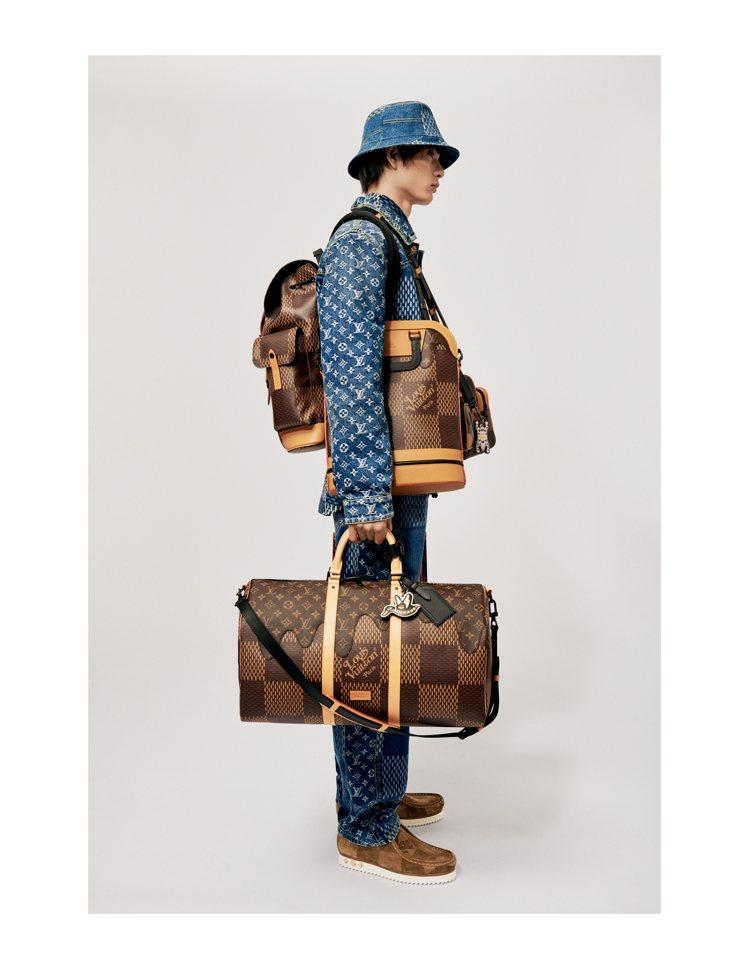 經典托特包、Keepall手袋,被重新詮釋,同樣使用Damier格紋經典Mono...