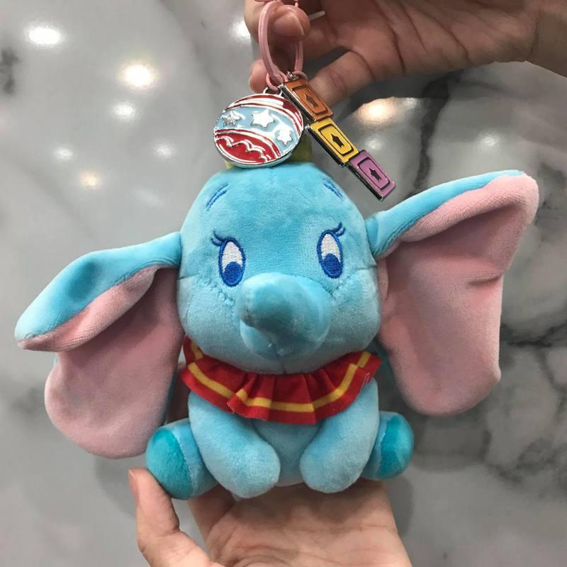 7-ELEVEN推出小飛象絨毛鑰匙圈,售價249元。記者陳立儀/攝影