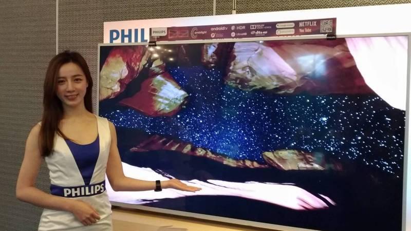 歐洲家電領導品牌飛利浦2020年度全新OLED934系列大型顯示器,展示65/55吋OLED934系列以及70吋大型顯示器,設置專屬情境區提供體驗。記者張義宮/攝影