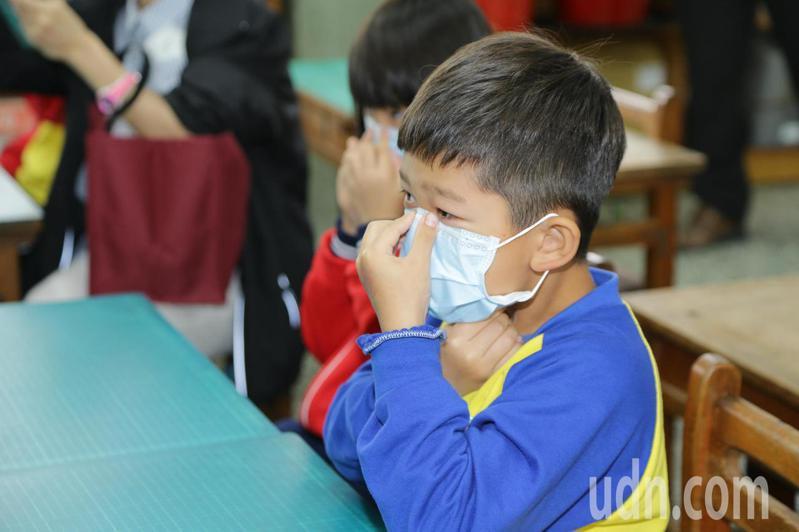 嘉義縣外商企業家潘杰賢日前捐贈10萬片口罩供嘉義縣國小師生使用。圖/嘉義縣政府提供