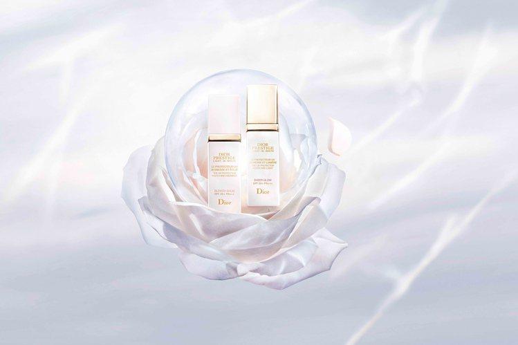 迪奧精萃再生光燦淨白系列給予肌膚,全天候的補水防護。圖/迪奧提供