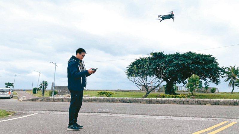 新竹縣政府支持遙控無人機發展,將開放縣內400呎以下空域飛行。 圖/新竹縣府提供