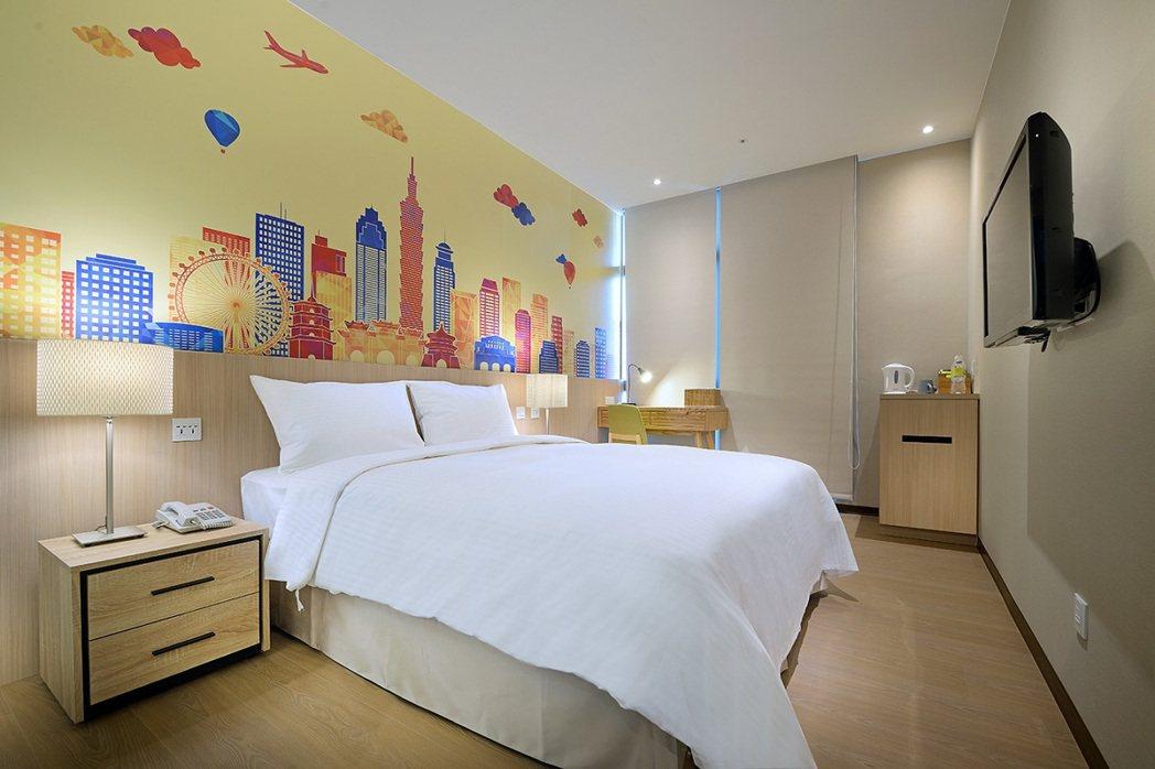晶贊都會旅店都會標準房。業者/提供