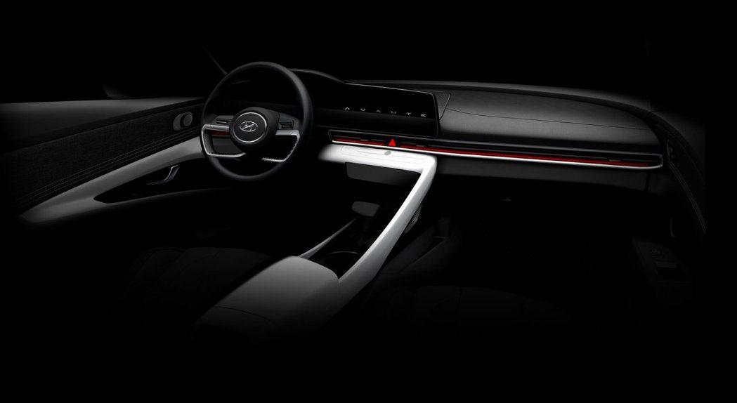 第七代Hyundai Elantra首波內裝預告照。 摘自Hyundai